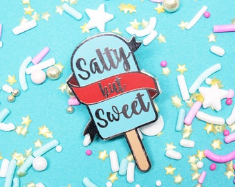 Sea Salt Ice Cream Enamel Pin