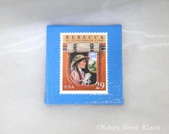 Vintage Postage Stamp Magnet 2 X 2 Rebecca of Sunnybrook Farm