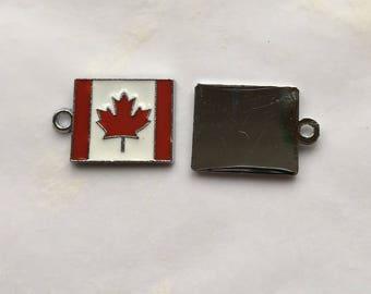 Enamel Canadian Flag Charms