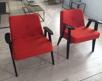 Vintage Pair Mid Century  Chairs