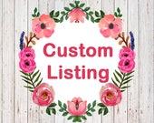 Custom Listing for Tekia