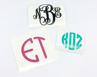Vinyl monogram decal, monogram sticker, car decal, monogram, vinyl decal, phone decal, vinyl monogram, laptop decal, vine monogram