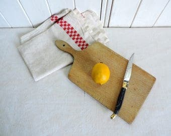 Vintage french, solid wood, small paddle chopping board, bread board