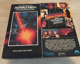 VHS Star Trek and Star Trek 2