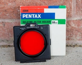 Pentax 58mm Filter Holder with Red Filter
