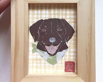 Chocolate Lab Art, Chocolate Lab Gifts, Labrador Retriever, ACEO, Original