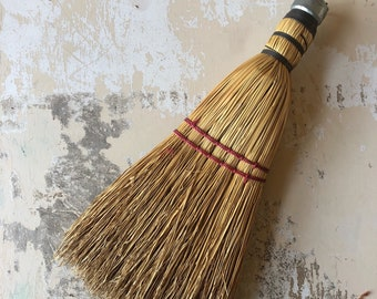 Vintage Straw Whisk Broom