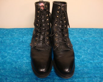 Mens Justin Lacers Workboot with Kilty Size 12D