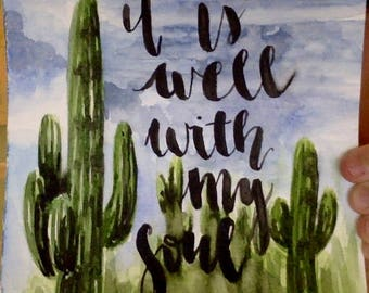 Custom Cactus Watercolor