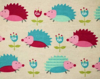 Pre-Order, Hedgehogs, Flannel, Cloth Diaper Wetbag, Diaper Pail Liner, Diaper Bag, Day Care Size, Bag with Handle