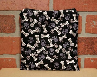 One Sandwich Bag, Reusable Lunch Bags, Waste-Free Lunch, Machine Washable, Dogs, Dog Treats, Sandwich Sacks, item #SS76