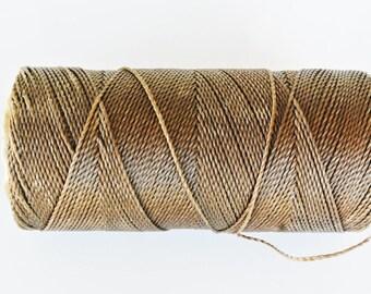 8 m of thread (Linhasita) nabbed macrame Brown 1 mm