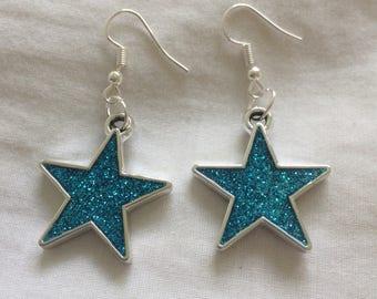 Glitter Star Earrings.