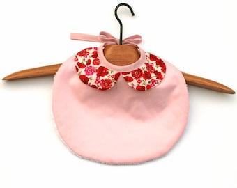 Baby Bib for girls Pink Liberty