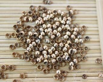 1000 pcs crimp beads brass base old gold 3mm