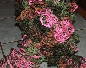 """Ruffle scarf """"""""(rose,vert,marron...) garden path Col. 510 - 09"""