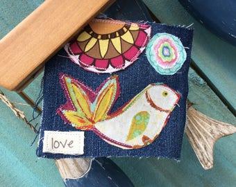 hippie frayed tattered boho love bird