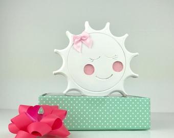 Nursery Sun Shelfie/hand-painted gift | nursery decor/baby gift