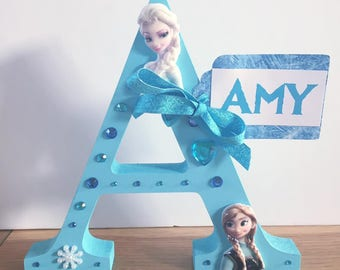 Frozen Free Standing initial/Frozen Letter/Elsa and Anna/Birthday gift/Christmas gift