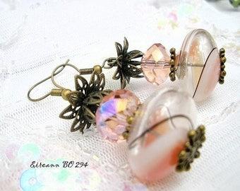 These earrings unique glass blown * Eireann BO 294 *.