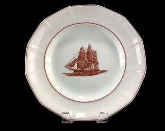 Wedgewood Dinner Plate * Flying Cloud * Rust Red