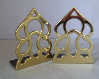 Vintage Brass Monticello Bookends - Thomas Jefferson Brass Bookends