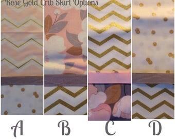 CRIB SKIRT ~ Adorable!/Rose Gold Crib Skirt