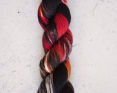 Campfire, Hand Dyed Yarn, Knitting Yarn, Superwash Merino Wool, 100g/231 yards