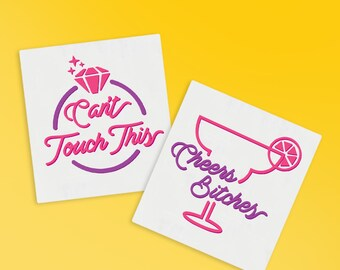 Bachelorette Party Temporary Tattoo | Cheers Bitches | Can't Touch This | Engagement Ring