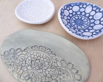Samples and seconds sale. Ceramic ring dish, ceramic bowl. Clearance