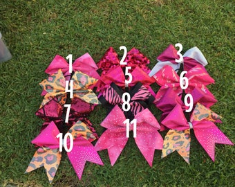 PINK 5 bow sale