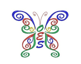 OES (Order of the Eastern Star) butterfly embroidery design