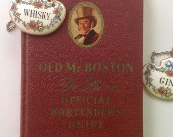 Old Mr. Boston, De Luxe, Official Bartender's, Guide, Hardcover, 1941, Great Gift, Mixology, Art Deco Drinks, Photos, Color Plates