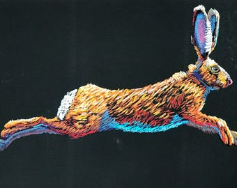 Jack Be Nimble - Pastel Jackrabbit, rabbit, hare