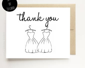 Gay Wedding Thank You Cards - Thank You Wedding Cards - Wedding Shower Thank You Cards Mr and Mr Cards - Mrs and Mrs Cards