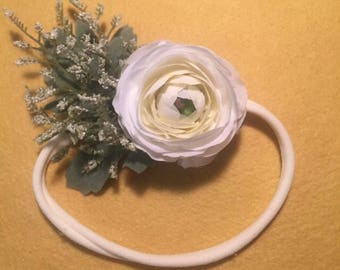 Ranunculus Faux Flower Headband