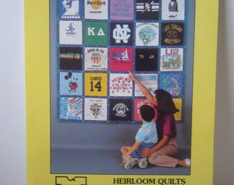 T-Shirt Quilt Pattern - 1992 Complete pattern in new condition- Custom made T-Shirt Quilt Pattern