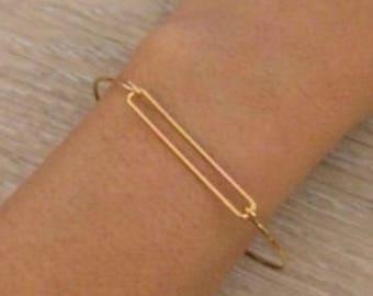 Gold Wire Bangle, Gold Bangle, Thin Bracelets, Stack Bracelets