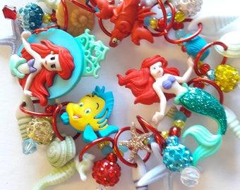 Little Mermaid bracelet/Disney/Beadiebracelet