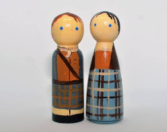 Jamie and Claire Peg Doll Outlander