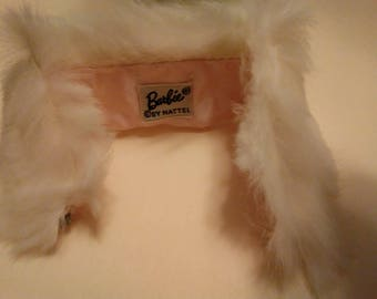 Barbie White Rabbit Fur Stole Vintage