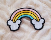 Rainbow Mouse Iron-On Patch