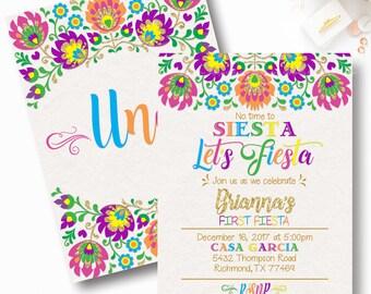 Fiesta Birthday Invitation, Mexican Fiesta Invitation, Mexican Baby Shower, First Birthday Fiesta, No time for Siesta