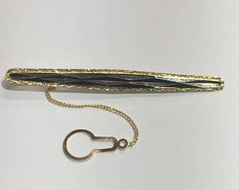 Tie bar l 18KT Gold Vintage tie clip