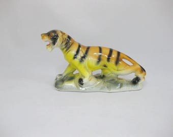 Ceramic Figurine, Tiger Figurine Japan