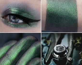 Eyeshadow: Tailed Ratface  - Mermaid. Green-blue satin eyeshadow by SIGIL inspired.