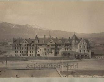 The Antlers hotel Colorado Springs antique albumen photo