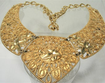 Jose Barrera Falling Leaves Necklace - Gold Tone - S2126