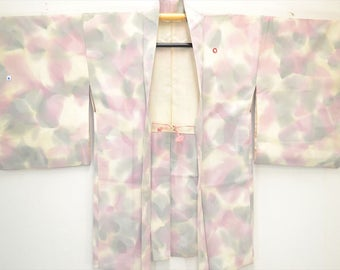 HAORI JACKET F77a - Classic Pink Grey Abstract Gradation