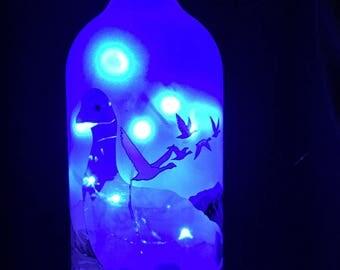 Grey Goose Bottle with Blue LED String Lights